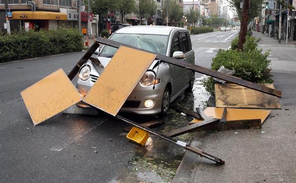 台風 車の運転 横転しない